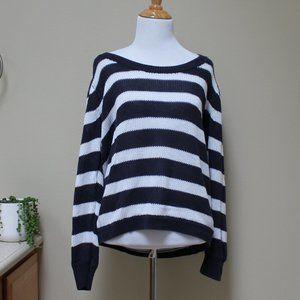 J Crew Striped Woven Sweater Size M